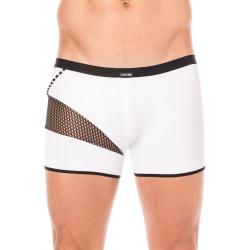Boxer Blanc Résille Noire Design Coté