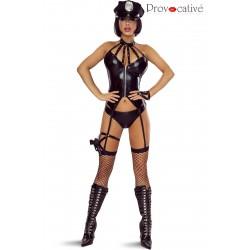 Police Costume Wetlook 6 Pièces
