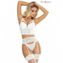 Passion Glamour Ensemble Bustier Slip Blanc